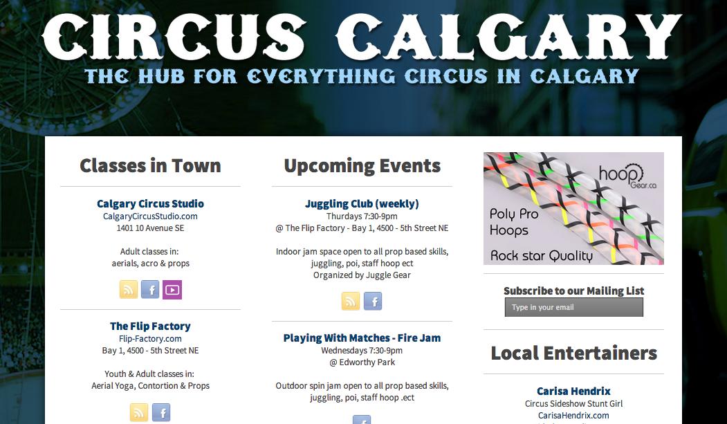 New Online Circus Hub in Calgary