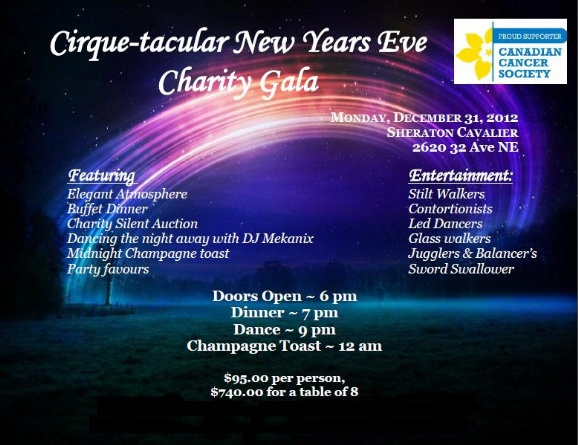 The Amazing Cirque-Tacular New Years Eve Charity Gala