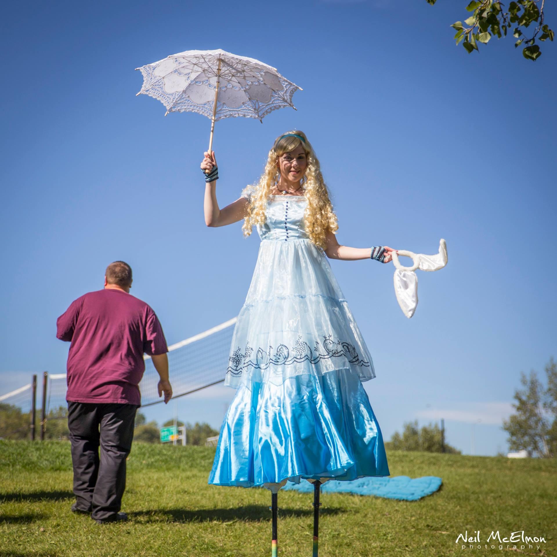 Alice in Wonderland – Stilt Walking in Calgary